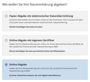 Online-Abgabe
